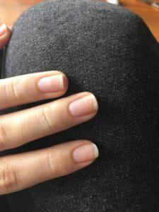 paznokcie prawej dłoni